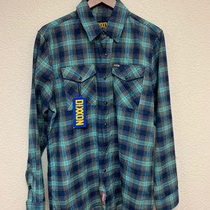 DIXXON Flannel - Pearl Snap - Teal/Blue